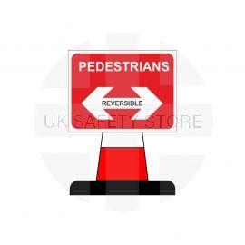 Pedestrians Reversible Arrow Aluminium Composite Cone Sign