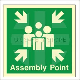 Glow In The Dark Assembly Point Sign