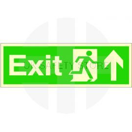Exit Arrow Up Glow In Dark Sign
