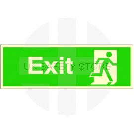 Exit 'Man Running Right' Glow In Dark Sign