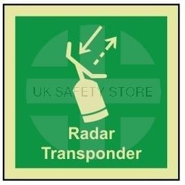 Radar transponder photoluminescent 100W  x  110H  sign self adhesive