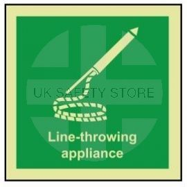 Line-throwing appliance photoluminescent 100W  x  110H sign self adhesive