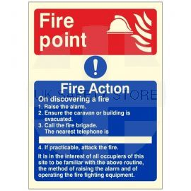 Glow In The Dark Fire action Sign