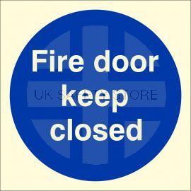 Glow in Dark Fire Door Keep Closed Door Sign