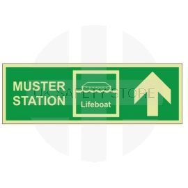 Muster Station Lifeboat Arrow Up Sign