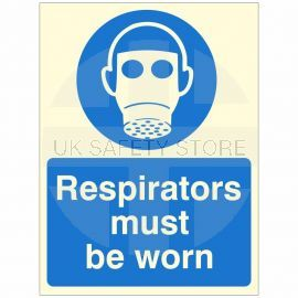 Respiratiors Must Be Worn Glow In Dark Sign