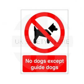 No Dogs Except Guide Dogs Sign Or Sticker
