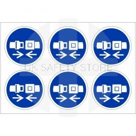 Seatbelt Labels 100mm in Diameter