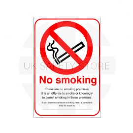 No Smoking These Are No Smoking Premises Sign