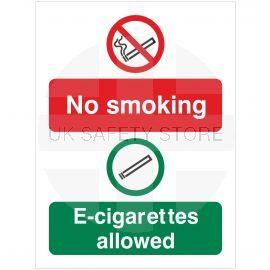 No Smoking E-Cigarettes Allowed sign
