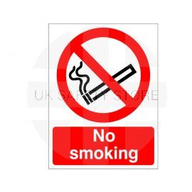 No Smoking Reverse Graphic Sign