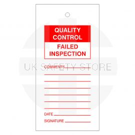 Quality Control Failed Inspection Tags
