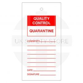 Quality Control Quarantine Tags