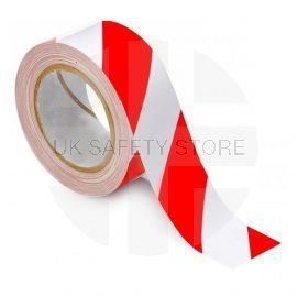 Red And White Hazard Floor Marking Tape - 50m x 33mm