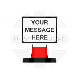 Your Message Here Aluminium Composite Cone Sign - 600Wmm x 450Hmm