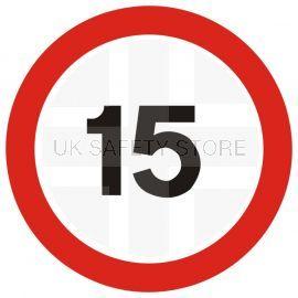 15 MPH Traffic Sign