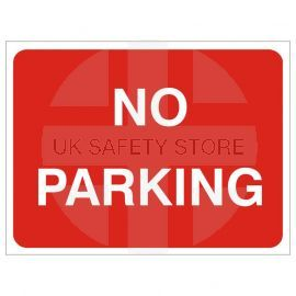 No Parking Temporary Traffic Sign