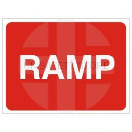 Ramp Temporary Traffic Sign