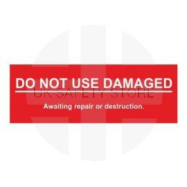 Do Not Use Damaged Scaffolding Tags 200W X 70Hmm Rigid Plastic W/Drill Holes Pack Of 10