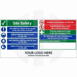 Site Safety Children Must Not Play On This Site Multi Message Safety Board