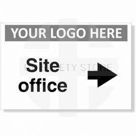 Site Office Arrow Right Custom Logo Sign