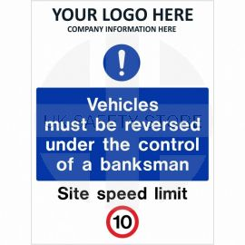 Vehicles Must Be Reversed Under The Control Of A Banksman