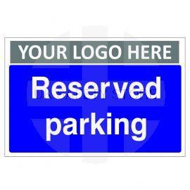 Reserved Parking Custom Logo Sign