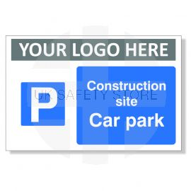 Construction Site Car Park Custom Logo Sign