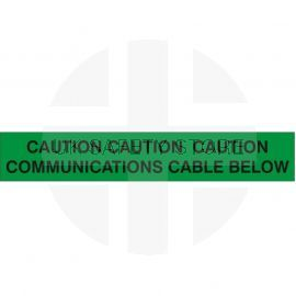 Caution Communications Cable Below