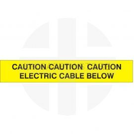 Caution Electric Cable Below
