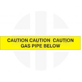 Caution Gas Pipe Below