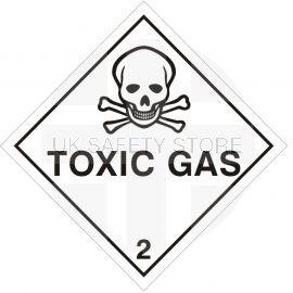 Toxic Gas Sign Sticker 200Wmm x 200Hmm