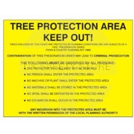 Tree Protection Area Keep Out Sign