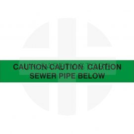 Caution Sewer Pipe Below