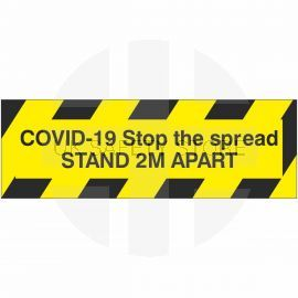 Covid-19 Stop The Spread Stand 2m Apart Sticker
