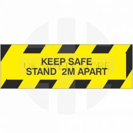 Keep Safe Stand 2M Apart Sticker
