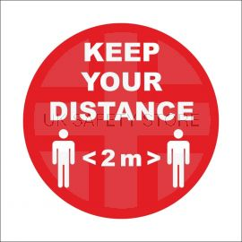 Keep Your Distance Sign Stickers (multipack)