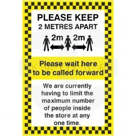 Please Keep 2 Metres Apart Social Distancing Sign