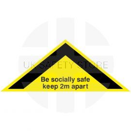 Be Socially Safe Keep 2m Apart Floor Sticker (Triangle)