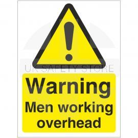 Warning Men Working Overhead Sign