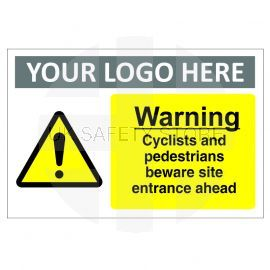 Warning Cyclists and Pedestrians Sign