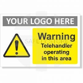 Warning Telehandler Operating In This Area Sign