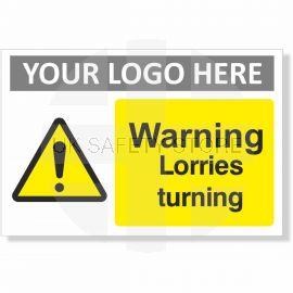 Warning Lorries Turning Sign
