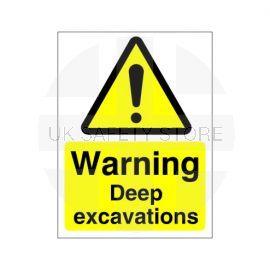 Warning Deep Excavations Sign