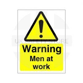 Warning Men At Work Sign
