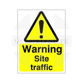 Warning Site Traffic Sign