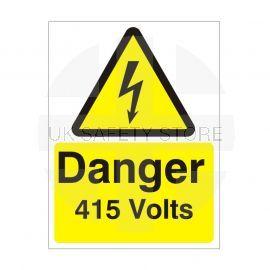Danger 415 Volts Safety Sign