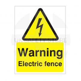 Warning Electric Fence Safety Sign