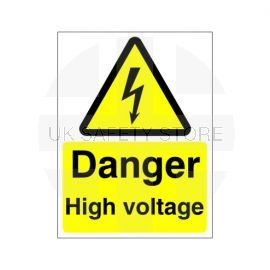 Danger High Voltage Safety Sign