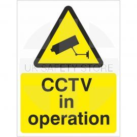 CCTV In Operation Warning Sign